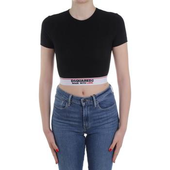 vaatteet Naiset Neulepusero Dsquared2 Underwear D8M263470 Black