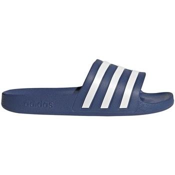 kengät Miehet Rantasandaalit adidas Originals Adilette Aqua Valkoiset, Vaaleansiniset