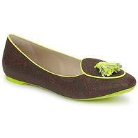 kengät Naiset Mokkasiinit Etro BALLERINE 3738 Brown / Citron