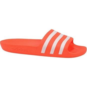 kengät Naiset Derby-kengät & Herrainkengät adidas Originals Adilette Aqua Slides Valkoiset, Oranssin väriset