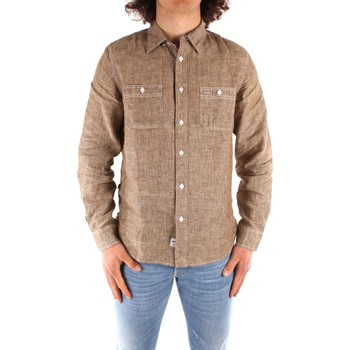 vaatteet Miehet Pitkähihainen paitapusero Blauer 21SBLUS01221 BROWN
