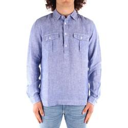 vaatteet Miehet Pitkähihainen paitapusero Blauer 21SBLUS01216 BLUE