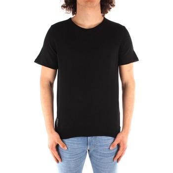 vaatteet Miehet Lyhythihainen t-paita Blauer 21SBLUM01319 BLACK