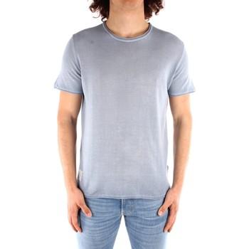 vaatteet Miehet Lyhythihainen t-paita Blauer 21SBLUM01319 HEAVENLY