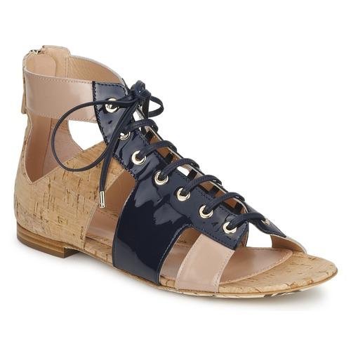 kengät Naiset Sandaalit ja avokkaat John Galliano AN6379 Blue / Beige / Pink