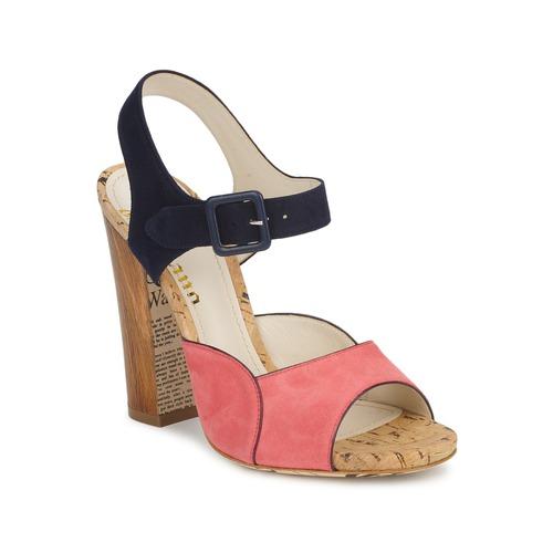 kengät Naiset Sandaalit ja avokkaat John Galliano AN3571 Pink / Laivastonsininen
