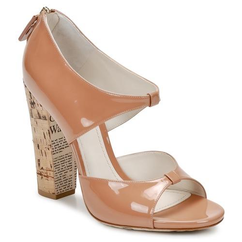 kengät Naiset Sandaalit ja avokkaat John Galliano AN6364 Pink / Beige