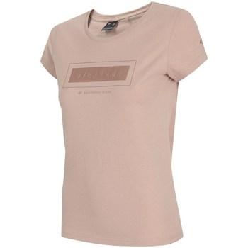 vaatteet Naiset Lyhythihainen t-paita 4F TSD034 Vaaleanpunaiset