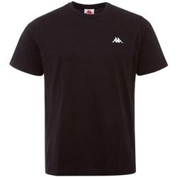 vaatteet Miehet Lyhythihainen t-paita Kappa Iljamor Mustat