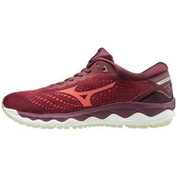 kengät Naiset Derby-kengät & Herrainkengät Mizuno Wave Sky 3 Tummanpunainen