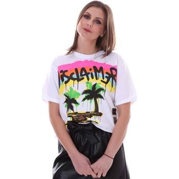 vaatteet Naiset Lyhythihainen t-paita Disclaimer 21EDS50632 Valkoinen