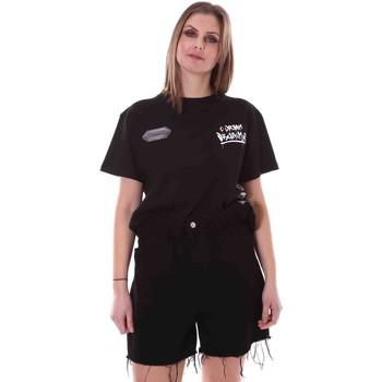 vaatteet Naiset Lyhythihainen t-paita Disclaimer 21EDS50642 Musta