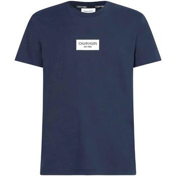 vaatteet Miehet Lyhythihainen t-paita Calvin Klein Jeans K10K106484 Sininen