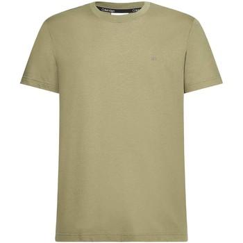 vaatteet Miehet Lyhythihainen t-paita Calvin Klein Jeans K10K107088 Vihreä