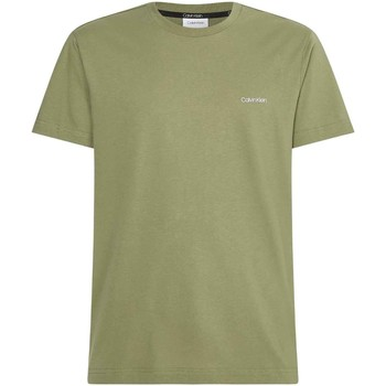 vaatteet Miehet Lyhythihainen t-paita Calvin Klein Jeans K10K103307 Vihreä