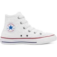 kengät Lapset Korkeavartiset tennarit Converse 671097C Valkoinen