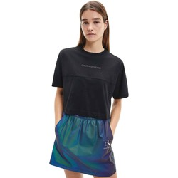 vaatteet Naiset Lyhythihainen t-paita Calvin Klein Jeans J20J215313 Musta