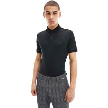 vaatteet Miehet Lyhythihainen poolopaita Calvin Klein Jeans K10K107090 Musta