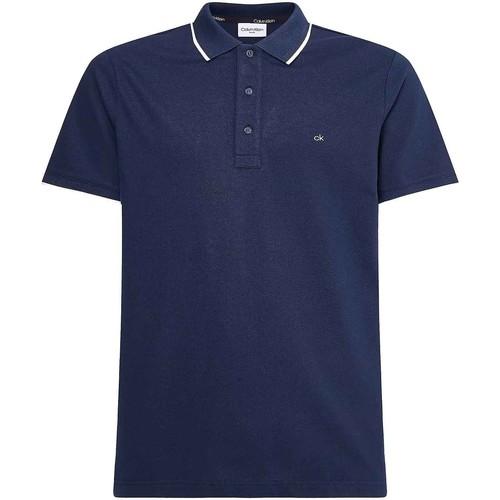 vaatteet Miehet Lyhythihainen poolopaita Calvin Klein Jeans K10K107211 Sininen