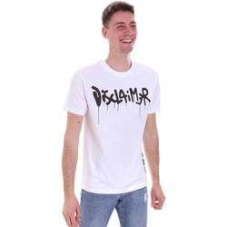 vaatteet Miehet Lyhythihainen t-paita Disclaimer 21EDS50565 Valkoinen