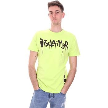 vaatteet Miehet Lyhythihainen t-paita Disclaimer 21EDS50565 Vihreä