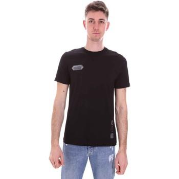 vaatteet Miehet Lyhythihainen t-paita Disclaimer 21EDS50517 Musta