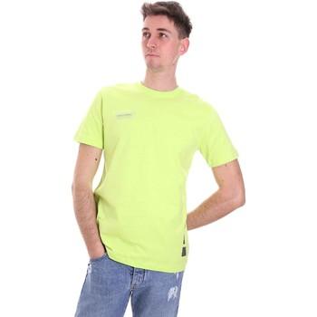 vaatteet Miehet Lyhythihainen t-paita Disclaimer 21EDS50517 Vihreä