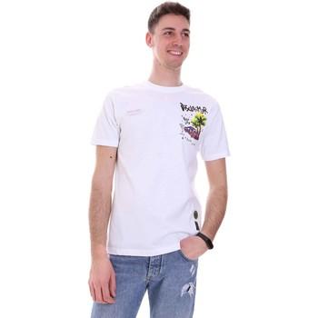 vaatteet Miehet Lyhythihainen t-paita Disclaimer 21EDS50522 Valkoinen