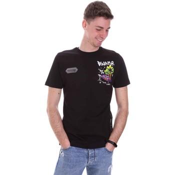 vaatteet Miehet Lyhythihainen t-paita Disclaimer 21EDS50522 Musta