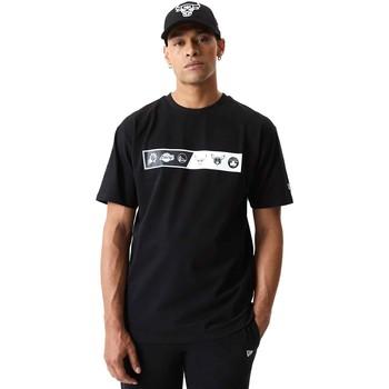 vaatteet Miehet Lyhythihainen t-paita New-Era 12553333 Musta