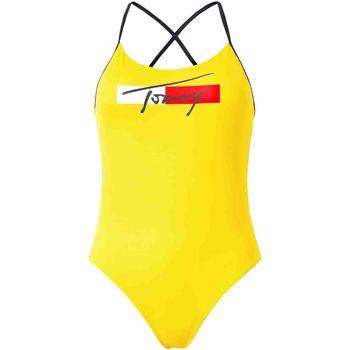 vaatteet Naiset Uima-asut / Uimashortsit Tommy Hilfiger UW0UW02945 Keltainen