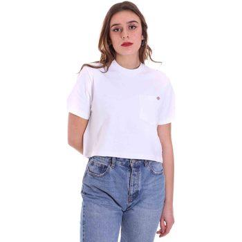 vaatteet Naiset Lyhythihainen t-paita Dickies DK0A4XDEWHX1 Valkoinen