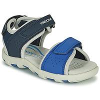 kengät Pojat Sandaalit ja avokkaat Geox SANDAL PIANETA Sininen