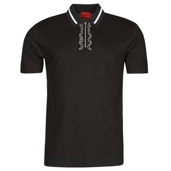 vaatteet Miehet Lyhythihainen poolopaita HUGO DOLMAR Musta / Valkoinen