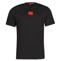vaatteet Miehet Lyhythihainen t-paita HUGO DIRAGOLINO Musta / Punainen