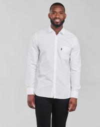 vaatteet Miehet Pitkähihainen paitapusero BOSS MAGNETON Valkoinen