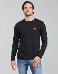 vaatteet Miehet T-paidat pitkillä hihoilla BOSS TOGN CURVED Musta