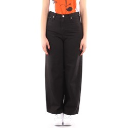 vaatteet Naiset Väljät housut / Haaremihousut Roy Rogers P21RND091P3211755 BLACK