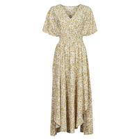 vaatteet Naiset Pitkä mekko Betty London ONINA Keltainen / Valkoinen