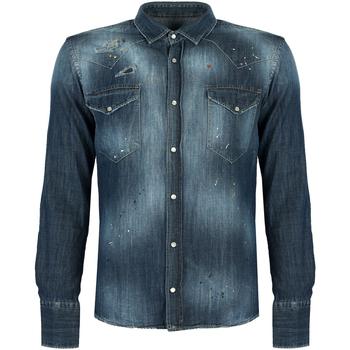 vaatteet Miehet Pitkähihainen paitapusero Takeshy Kurosawa  Sininen