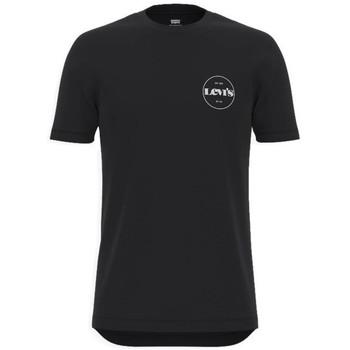 vaatteet Miehet Lyhythihainen t-paita Levi's Perf Graphic Tee Mustat