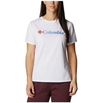 vaatteet Naiset Lyhythihainen t-paita Columbia Sun Trek W Graphic Tee Valkoiset