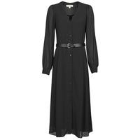 vaatteet Naiset Pitkä mekko MICHAEL Michael Kors CRINKLE DOTS KATE DRS Musta