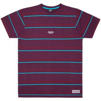 vaatteet Miehet Lyhythihainen t-paita Jacker Rtk stripes Violetti