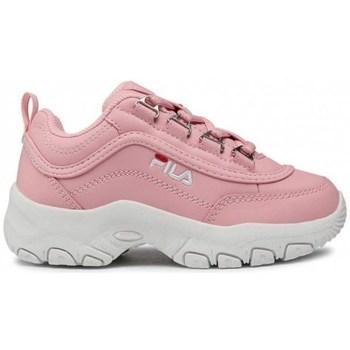 kengät Lapset Matalavartiset tennarit Fila Strada Kids Valkoiset, Vaaleanpunaiset