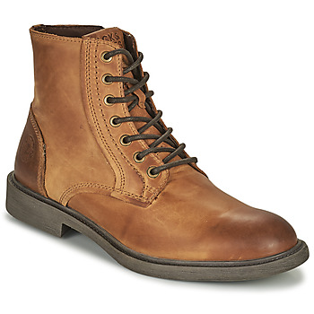 kengät Miehet Bootsit Jack & Jones JFW KARL LEATHER BOOT Konjakki