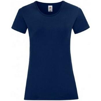 vaatteet Naiset Lyhythihainen t-paita Fruit Of The Loom 61444 Navy