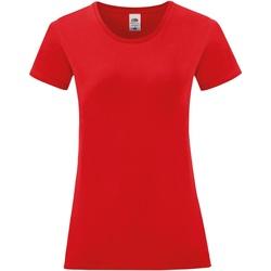 vaatteet Naiset Lyhythihainen t-paita Fruit Of The Loom 61444 Red