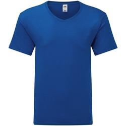 vaatteet Miehet Lyhythihainen t-paita Fruit Of The Loom 61442 Royal Blue