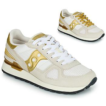 kengät Naiset Matalavartiset tennarit Saucony SHADOW ORIGINAL Valkoinen / Kulta